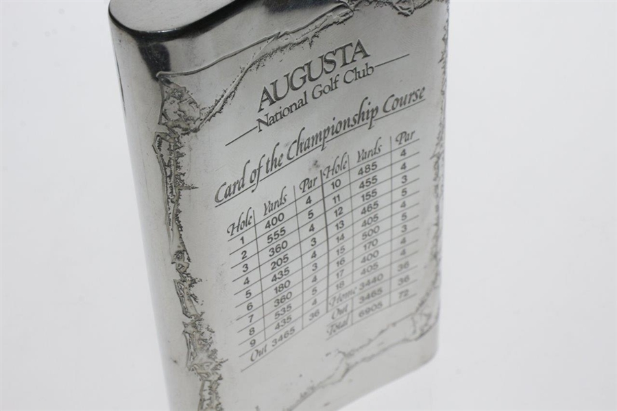 Augusta National Golf Club English Pewter Golf Flask - Excellent Condition in Box
