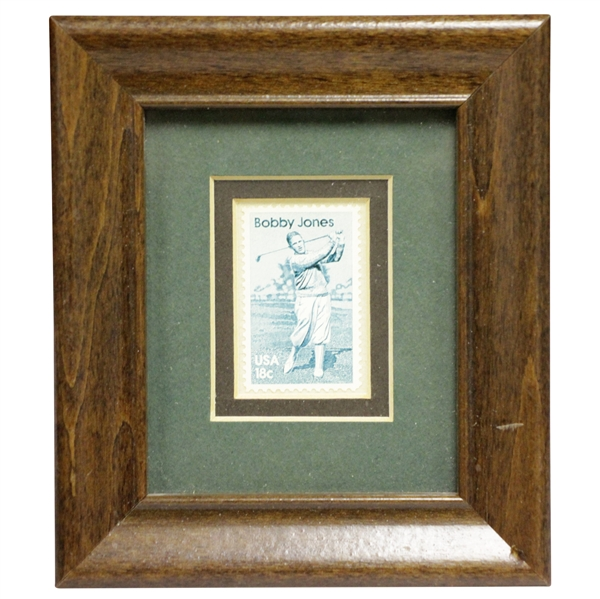 Bobby Jones 18 Cent Postage Stamp Framed Display