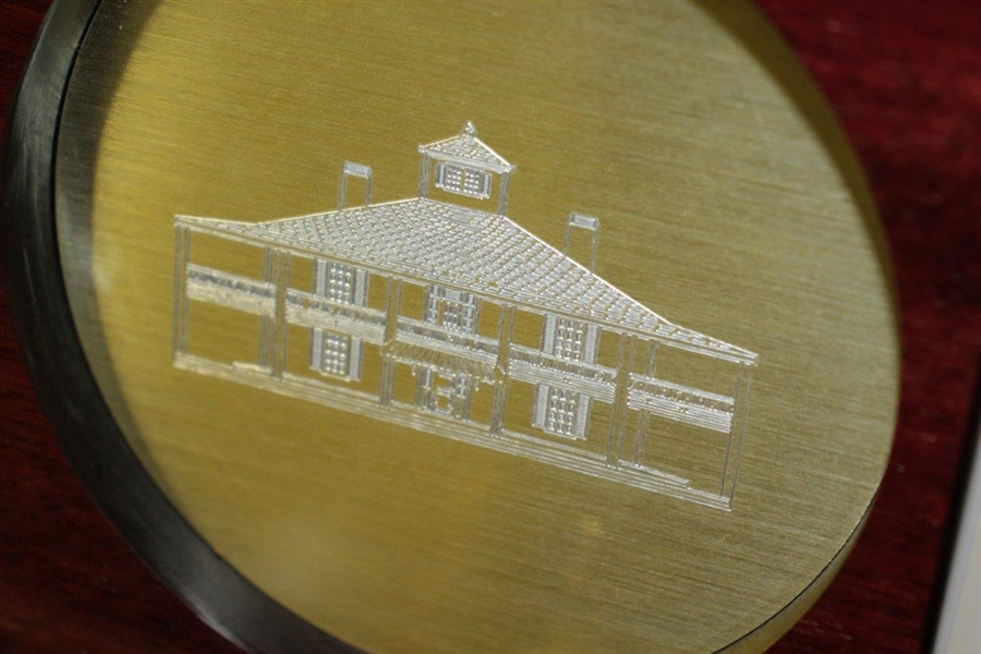 Masters Wooden Opening Clock Featuring World Time Dial & Augusta National Clubhouse - Works