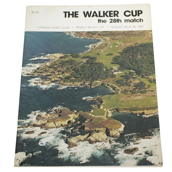 1981 Walker Cup at Pebble Beach Cypress Point Program