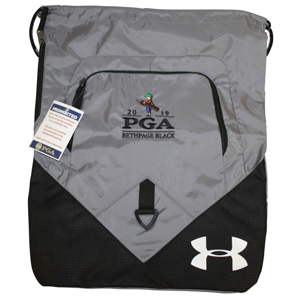 2019 PGA Championship at Bethpage Black Under Armour Black/Grey Backpack Bag