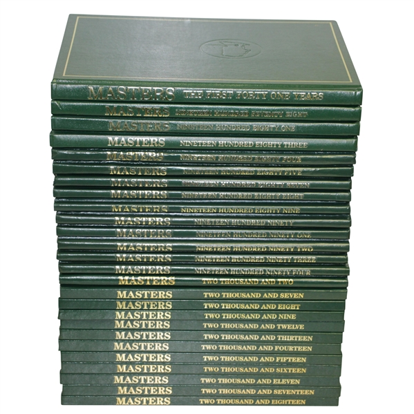 Twenty Six Masters Annual Books from 1978-2018 Including 'The First Forty One Years'