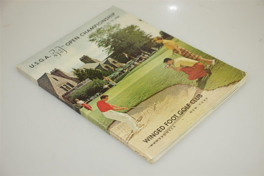 1959 US Open at Winged Foot Golf Club Official Program - Billy Casper Winner