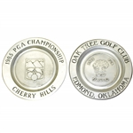 1985 & 1988 PGA Championship Commemorative Limited Pewter Plates