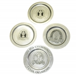 1993, 1994, 1997, & 1998 PGA Championship Commemorative Limited Pewter Plates