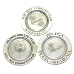 1980, 1981, & 1982 PGA Championship Commemorative Ltd Pewter Plates-Nicklaus & Others