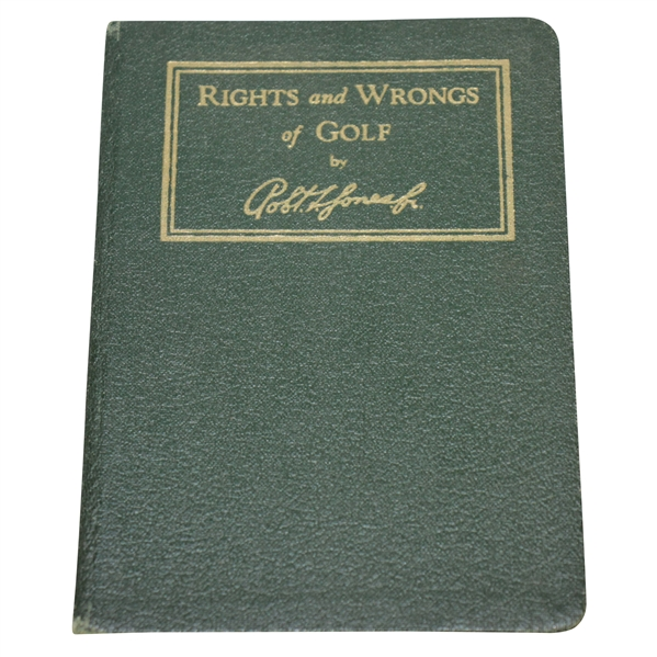 1935 A.G. Spalding & Bros. 'Rights and Wrongs of Golf' by Robert Bobby T. Jones, Jr.