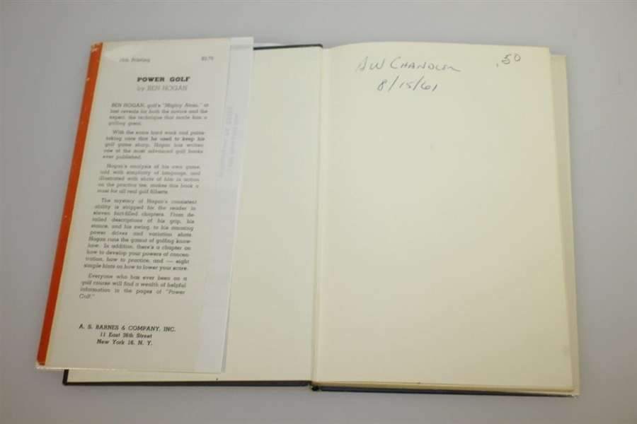 Ben Hogan Signed 1948 'Power Golf' Book JSA ALOA