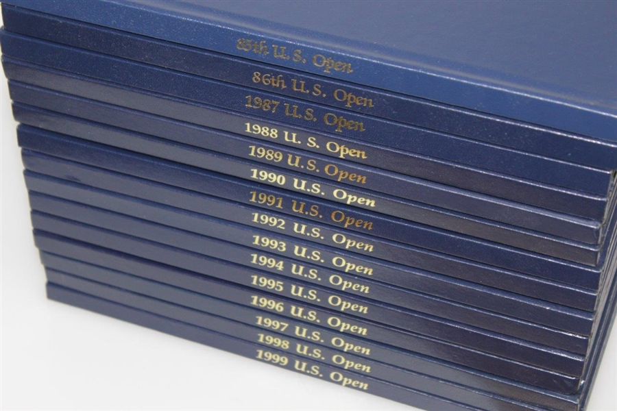 US Open Annuals 1985 - 1999 Complete Set - Excellent Condition