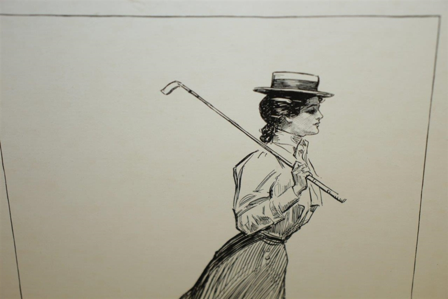 1899 'The Seven Ages Of American Woman-School Days' Ink And Paper Drawn By Charles Dana Gibson