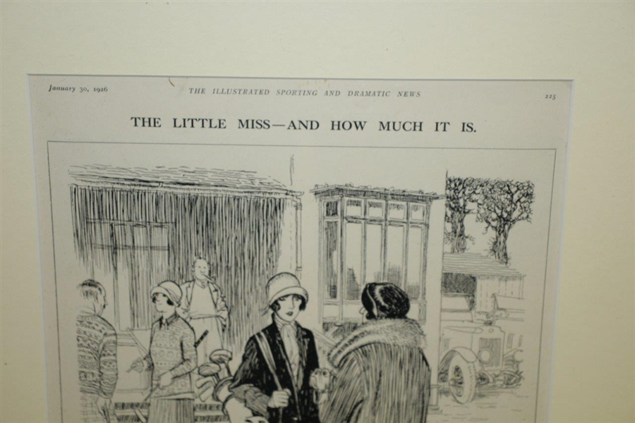 1926 'The Little Miss & How Much It Is' Illustrated Sporting And Dramatic News Magazine Cartoon by Illingworth