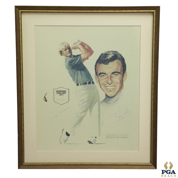1971 National Golf Day Print Featuring Jack Nicklaus and Tony Jacklin