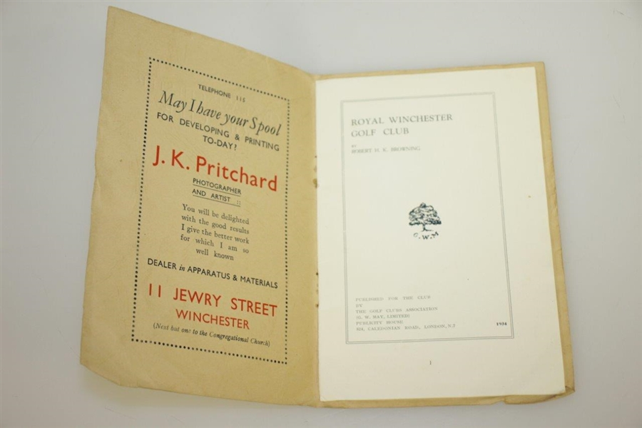 1934 Royal Winchester Golf Club by Robert HK Browning