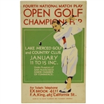 1934 National Match Play Open Golf Championship Vibrant Broadside - Tom Creavy Win