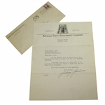 Johnny Goodman Signed 1933 Letter Written 9 Days After Amateurs US Open Win JSA ALOA