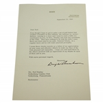 Dwight Eisenhower Signed Letterhead to Munday Explaining Donations to Club JSA ALOA