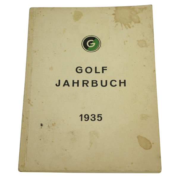 1935 Golf Jahrbuch German Golf Yearbook