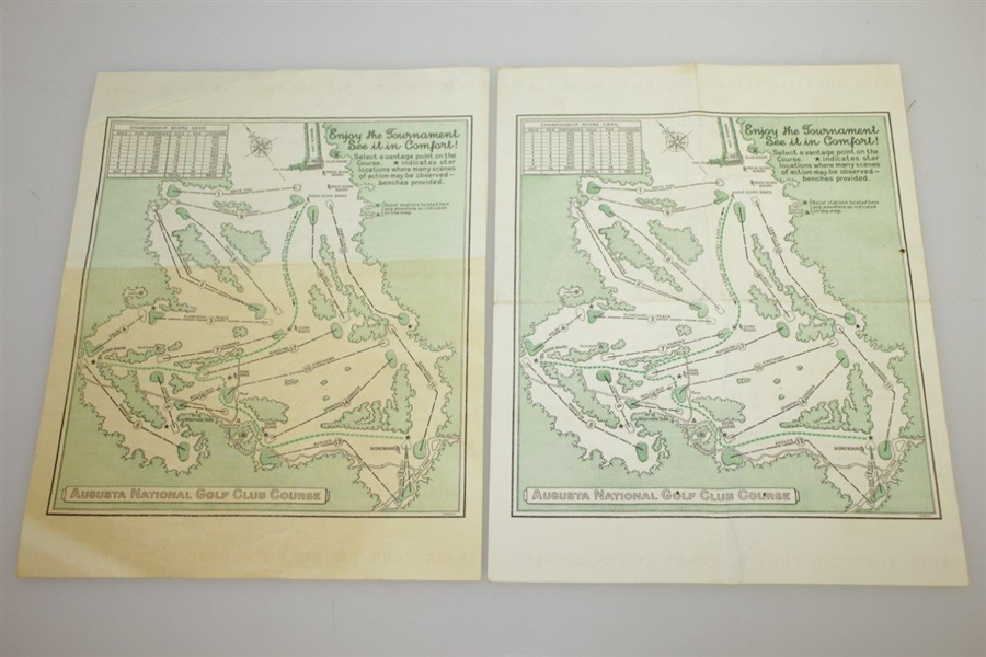 1946 Masters Tournament Saturday Pairing Sheets - Herman Keiser Win