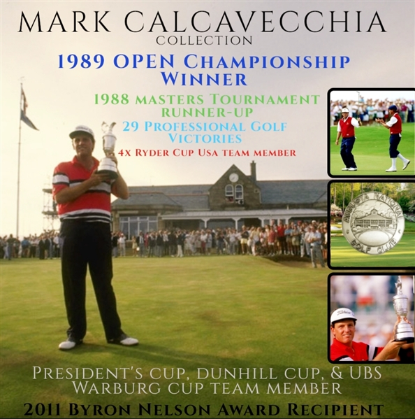 Mark Calcavecchia's 1987 US Open at Olympic Club Contestant Badge