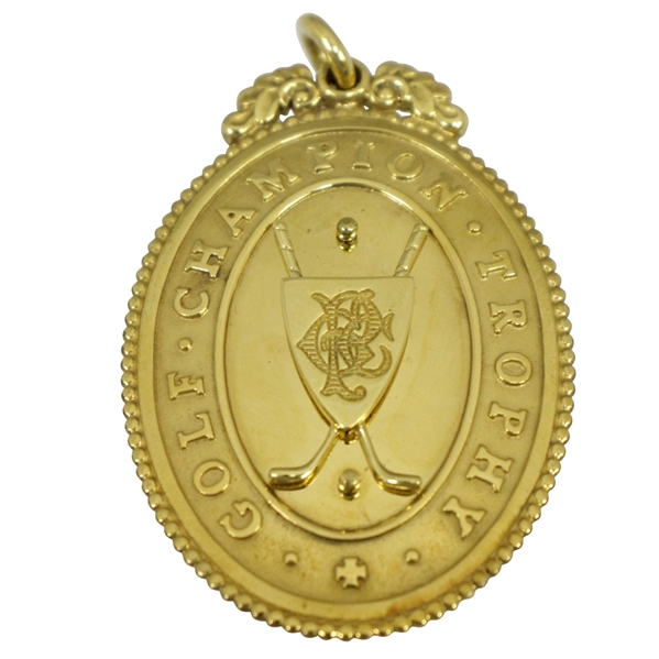 Gold OPEN Golf Champion Trophy Medal - 2015 OPEN Champion's Gift - Mark Calcavecchia Collection