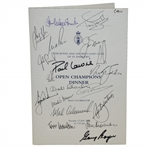Mark Calcavecchias 2005 OPEN Champions Dinner Menu Signed by Past Winners JSA ALOA