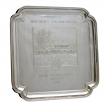 Mark Calcavecchias 1988 Masters Tournament Runner-Up Sterling Silver Engraved Salver