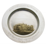 Mark Calcavecchias 2000 Royal & Ancient Gifted Past Champions JB Silver Clubhouse Plate