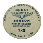1955 US Open Championship at Olympic Club Season Clubhouse Pass #783 - Fleck beats Hogan!