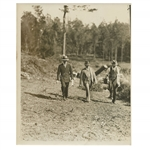 Early 1930s Augusta National Golf Club Type 1 Original Photo of Bobby Jones & Wendell P. Miller Surveying Construction Grounds