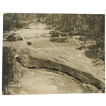 Early 1930s Augusta National Golf Club Original Photo of 3rd Green and Tee & 7th Fairway