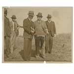 Early 1930s Augusta National Golf Club Type 1 Original Photo of Bobby Jones, Wendell P. Miller & Others Surveying Grounds