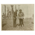 Early 1930s Augusta National Golf Club Type 1 Original Photo of Bobby Jones with Wendell P. Miller Surveying Grounds