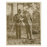 Early 1930s Augusta National Golf Club Type 1 Original Photo of Bobby Jones & Wendell P. Miller Reviewing Plans