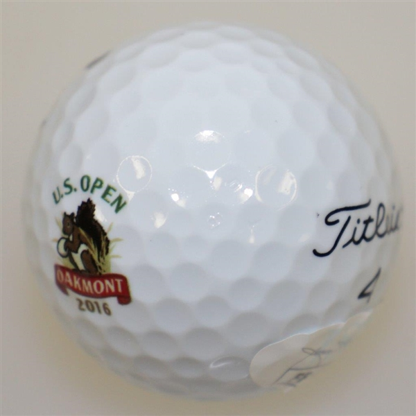 Dustin Johnson Signed 2016 US Open at Oakmont Logo Ball JSA #FF47782