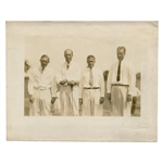 Original George Pietzcker Photo of Bobby Jones w/ U.S. Amateur Champs  Von Elm,Gardner& Marston-All 3 Beat Bobby!