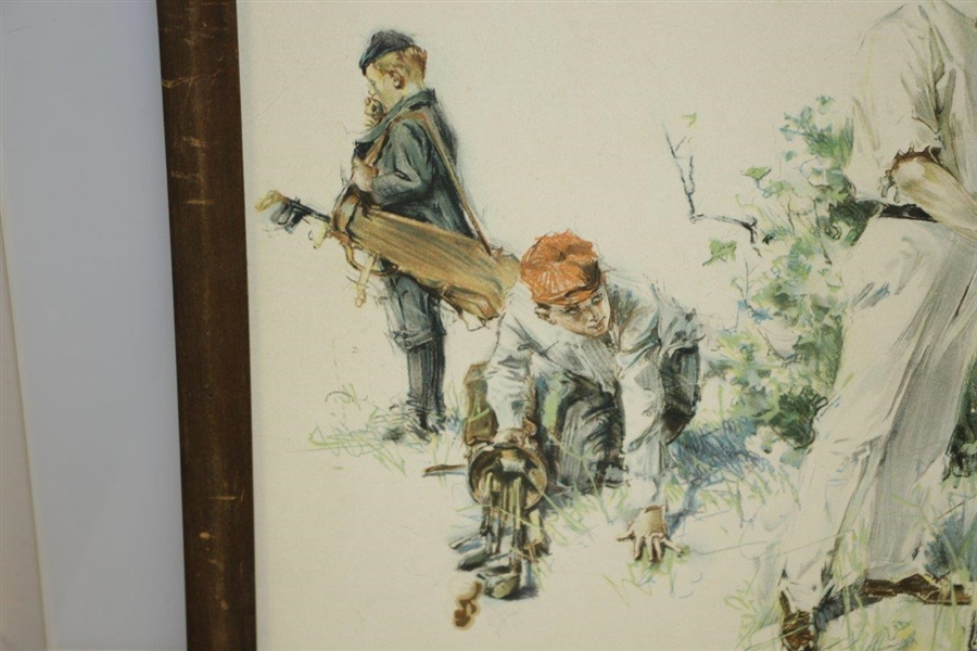 1901 Golfing Couple w/ Caddies Print by Howard Chandler Christy