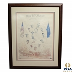 1999 Ryder Cup at The Country Club Brookline United States Team Signed Poster JSA ALOA