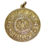 1921 Eastern Golf Assn. 14k Gold Medal Won by Miss Florence Vanderbeck - Brookline