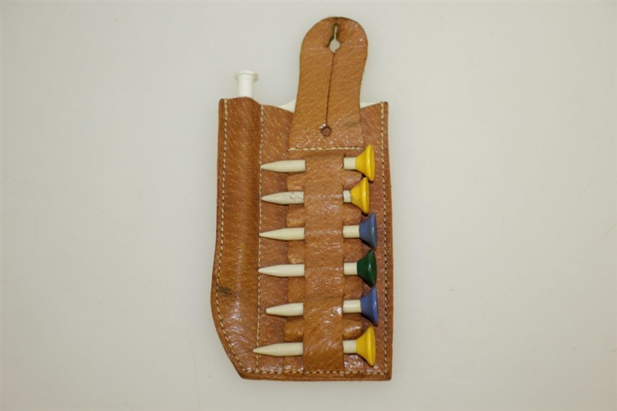 Vintage Golf Score Keeper & Tee Holder in Holster - Made in England - Crist Collection