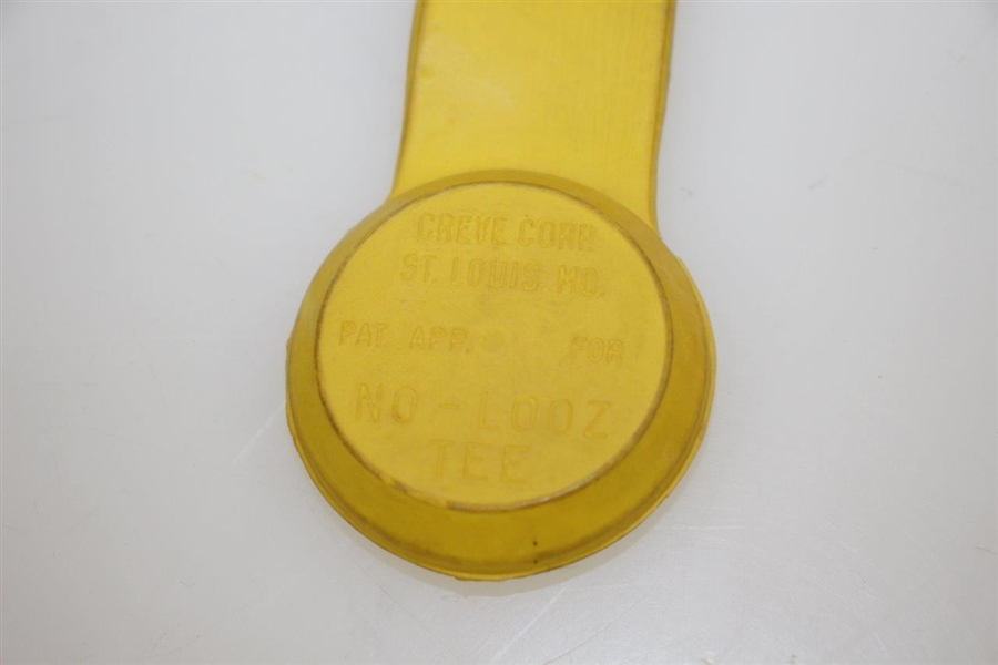 Vintage Yellow Rubber No-Looz-Tee Pat. App. for - Creve Corp, St. Louis, Mo. - Crist Collection