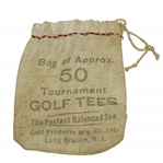 "Vintage ""The Perfect Balanced Tee"" Golf Tee Canvas Bag - Long Branch - Crist Collection"
