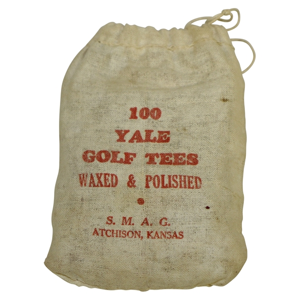 Vintage 100 Yale Golf Tees Canvas Golf Tee Bag with Tees - S.M.A.G. - Crist Collection