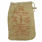 "Vintage ""Rite-Hite Genuine Golf Tees"" Canvas Tee Bag with Tees - Gilberts - Crist Collection"