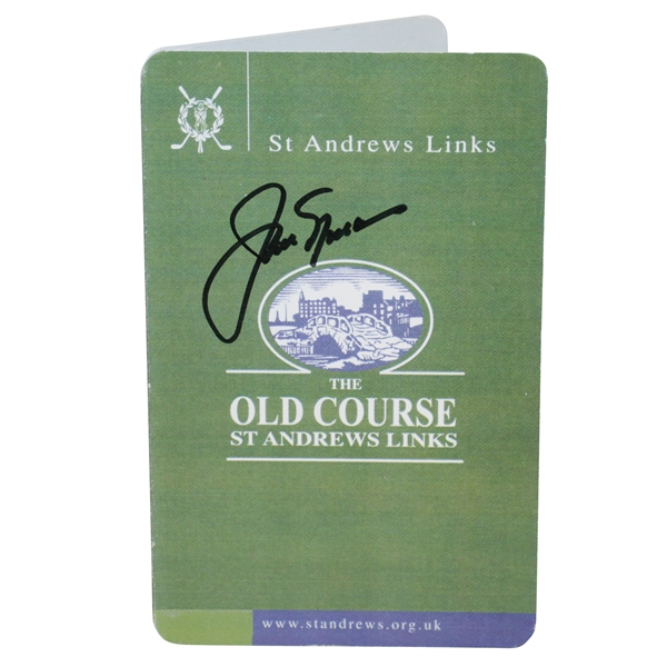 Jack Nicklaus Signed St Andrews Old Course Scorecard JSA #T67567