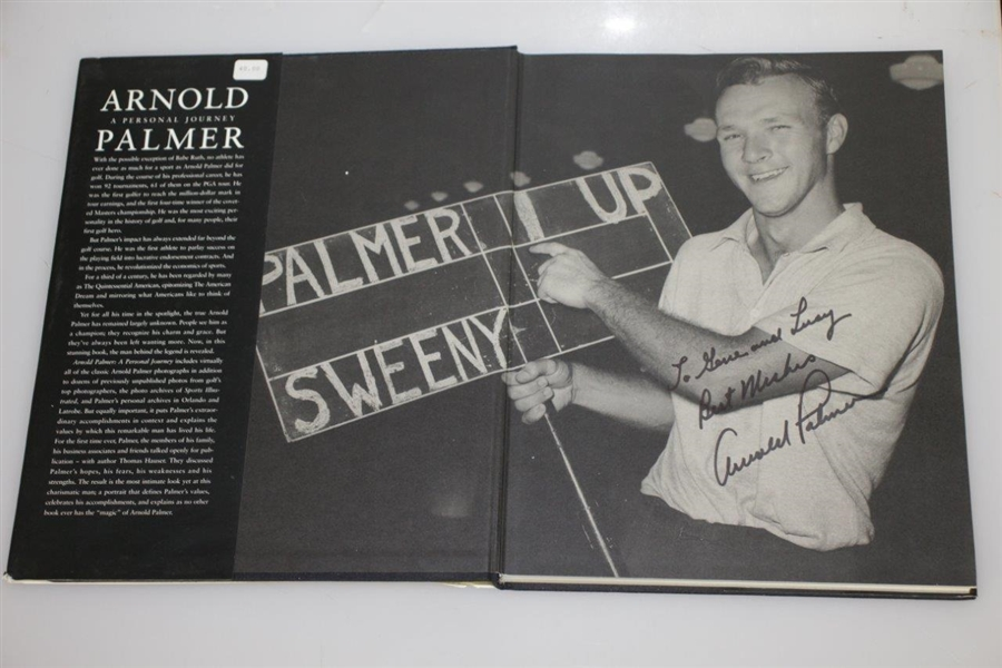 Arnold Palmer Signed 'A Personal Journey' Book - Inscribed JSA ALOA