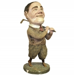 Vintage Bobby Jones Statue Hand-Crafted of Papier Mache - Impressive 2ft Tall!