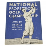 1932 PGA Championship at The Keller Course Program - Olin Dutra Winner