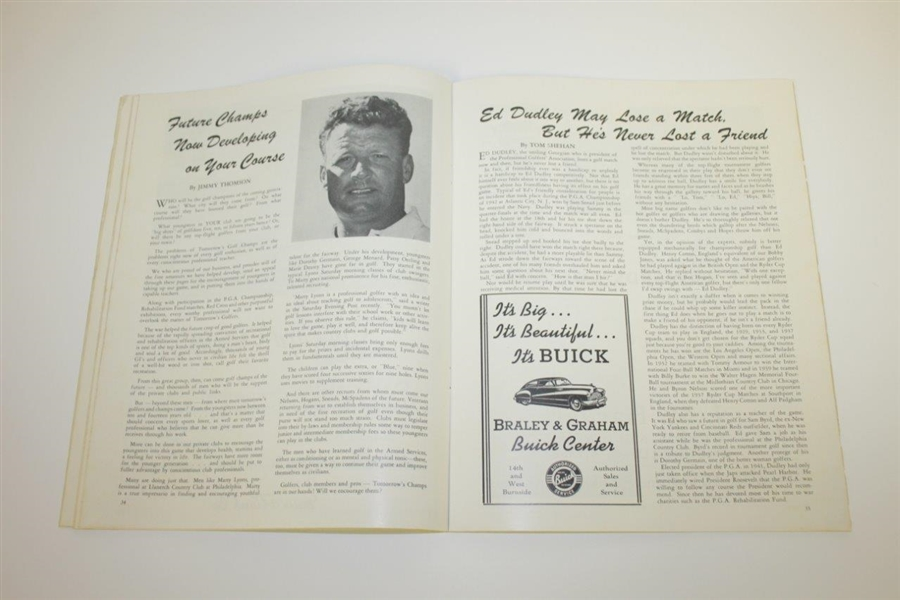 1946 PGA Championship at Portland GC Program - Ben Hogan's First Major - Rare
