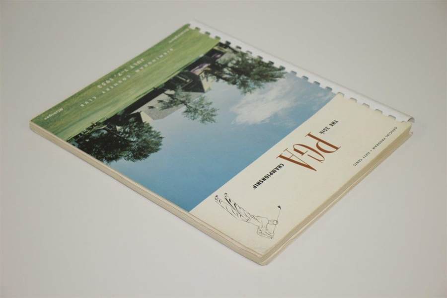 1953 PGA Championship at Birmingham CC Program - Walter Burkemo Winner