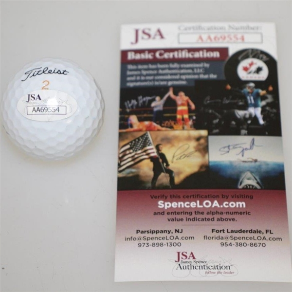 Curtis Strange Signed Titleist Logo Golf Ball JSA #AA69554